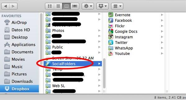 SocialFolders-finder