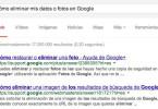 Eliminar datos personales de Google