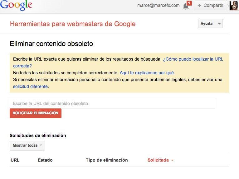 Eliminar imagen de google