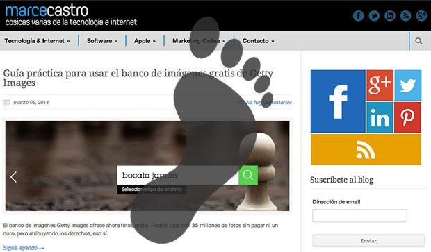 eliminar footprint blog